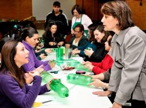 Curso de reciclagem com garrafas pet forma 40 multiplicadores em Rio Claro