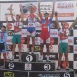 Pódio da categoria Sub 23. Atleta Willian Chiarello na 2ª colocação e Halysson Ferreira na 5ª colocação.