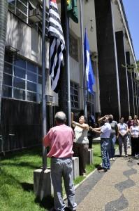 Rio Claro homenageia Dia da Bandeira no Paço Municipal