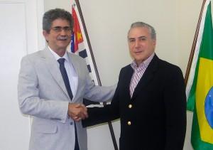 Altimari se reúne com o vice-presidente Michel Temer