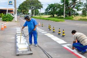 Prefeitura implanta mais 1.900 metros de ciclofaixa na região do NAM