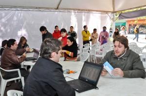 Cadastramento no Jardim atrai grande quantidade de pessoas para internet grátis