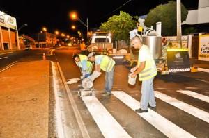 Avenida Visconde começa a receber nova sinalização viária