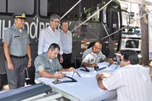 Agência móvel da Marinha está em RC e inscreve para prova de Arrais Amador