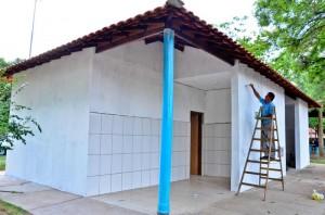 Lago Azul terá fraldário e novos banheiros estão quase prontos