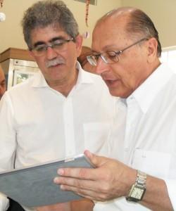 Altimari e Alckmin conversam sobre a situação da segurança em Rio Claro