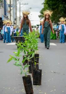 Desfile chama a atenção para a preservação da Floresta