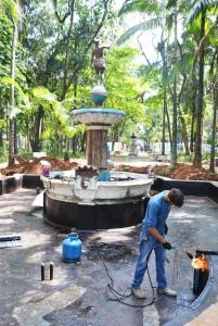 Revitalização renova e preserva Fonte do Índio