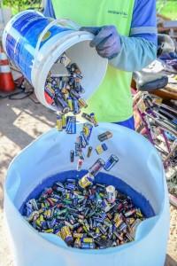 Prefeitura recolhe 1.500 quilos de pilhas e baterias