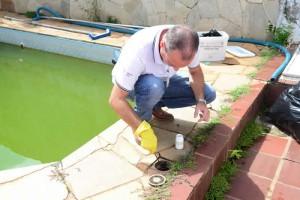 Voluntários marcam presença  no mutirão contra a dengue