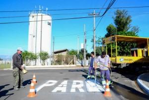 Prefeitura reforça sinalização de solo em trechos movimentados de Rio Claro