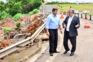 Juninho traz vice-governador para ver de perto situação do trevo na Washington Luís
