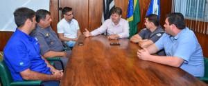 Juninho discute ações de segurança com novo comandante do 37º BPMI