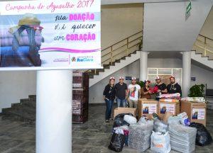 Barbearia Don Hercules doa 1.500 agasalhos ao Fundo Social