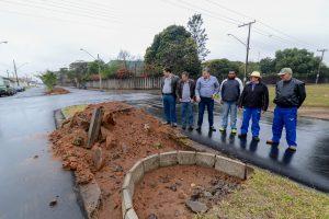 Prefeitura inicia construção de rotatória na Avenida 2-JF com Avenida M-25