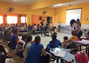 Fundação de Saúde realiza capacitação na escola Francisca Coan
