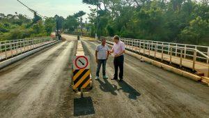 Ponte do Nova Rio Claro ganha asfalto, iluminação e limpeza