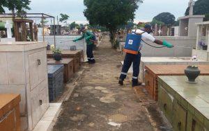 Prefeitura conclui dedetização do cemitério nesta terça-feira