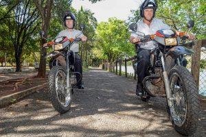 Motos reforçam vigilância no Lago Azul
