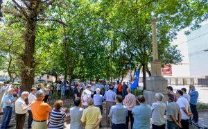 Lavagem do obelisco celebra a Proclamação da República em Rio Claro