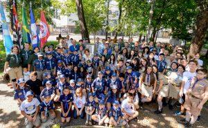 Escoteiros ganham monumento na Praça da Liberdade em Rio Claro