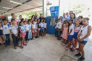 Prefeitura instala cisternas em  escolas para economizar água