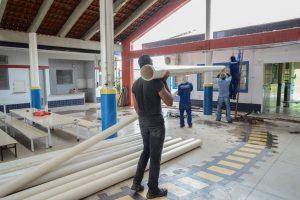 Prefeitura faz reforma em escola inaugurada há 3 anos