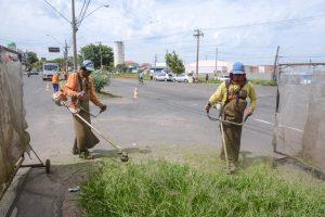 Prefeitura realiza mutirão de limpeza na Estrada dos Costas