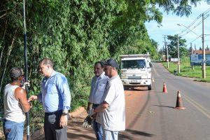 Prefeitura interdita trânsito para melhorias na divisa Rio Claro/Santa