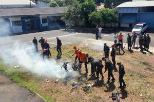 Combate a incêndio foi tema do curso da Defesa Civil na 6ª-feira