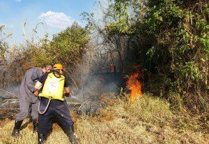 Defesa Civil faz treino de combate à incêndio nesta quinta-feira