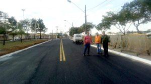 Prefeitura conclui obra em avenida ao lado do aeroclube