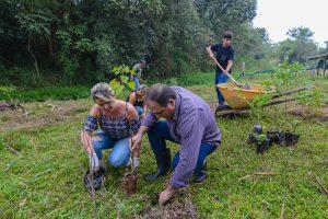 Prefeitura faz reflorestamento às margens do córrego Cachoeirinha