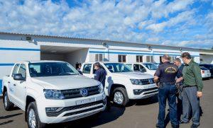 Guarda Municipal recebe três viaturas zero quilômetro