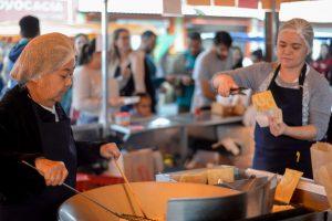 Alimentos saudáveis e aferição de pressão na Feira de São Benedito