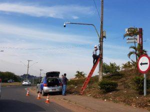 Câmeras de monitoramento fiscalizam região sul