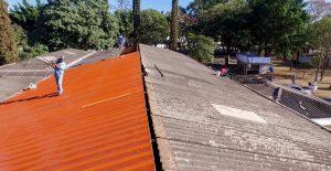 Novo telhado do velório municipal de Rio Claro está quase concluído