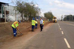 Prefeitura intensifica manutenção  e limpeza no Distrito Industrial