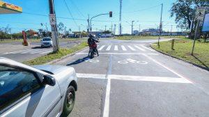 Rio Claro começa a ganhar 'bolsões' para motos em semáforos