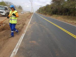 Recapeamento e outras melhorias  continuam na estrada de Ajapi