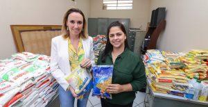 Fundo Social recebe 1 tonelada de alimentos trocados por ingressos para circo