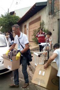Quase duas toneladas de  criadouros do Aedes no Santa Elisa