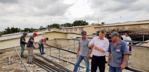 Obras no Jardim das Nações  prosseguem mesmo com chuvas