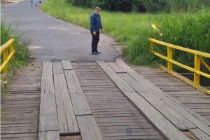 Prefeitura fará melhorias  em ponte do Jardim Novo