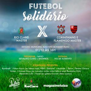 Jogo solidário reúne grandes nomes do futebol em Rio Claro