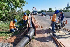 Obras para garantir água no distrito  de Assistência estão 80% concluídas