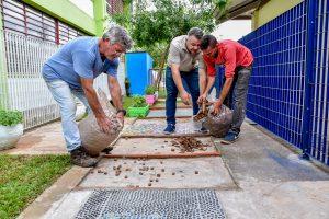Escola inaugura jardim sensorial  para estimular sentidos dos alunos