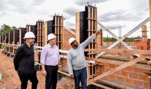 Obras de nova escola do Jardim Novo  avançam com construção de paredes