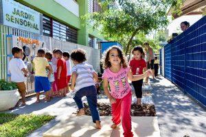 Jardim sensorial é inaugurado  em escola no Jardim Novo